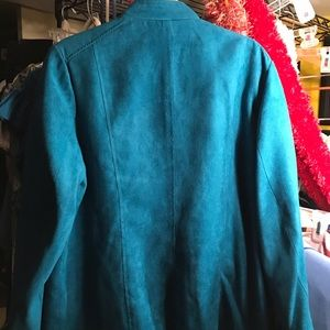 Studio Works Jackets & Coats - **Pick 4 for $20 SALE*** turquoise zip up blazer